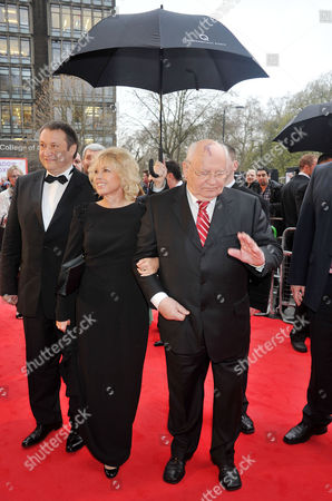 Stock Image of Gorby 80 Gala Arrivals at the Royal Albert Hall Mikhail Gorbachev with Daughter Irina Virganskaya and Her Husband Andrey Trukhachev