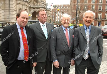 Opening of the New Bbc Building in Celebration of Her 80th Birthday and the 80th Anniversary of the Bbc Charter James Naughie Terry Wogan David Jacobs and John Humpheries