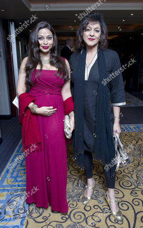 Daily Mail and Wellbeing of Women Inspirational Woman of the Year Awards at the Marriott Hotel Grosvenor Square Ayesha Dharker and Meera Syal
