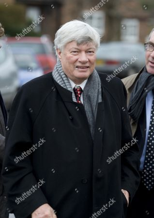 John Mortimer Funeral at Turville Buckinghamshire at the Church of St Mary the Virgin Geoffrey Robinson Qc