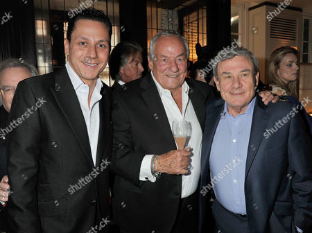 Johnny Gold's 80th Birthday at '34' South Audley Street Mayfair Nick Gold with His Father Johnny Gold and Sol Kerzner
