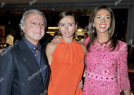 80th Birthday at '34' South Audley Street Mayfair Raffy Manoukian with His Wife Jo Manoukian and Heather Kerzner