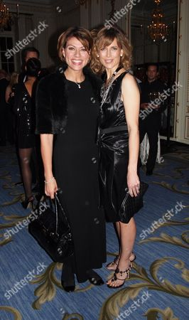 Stock Photo of Cnn Launch Party For Their New Us Show Piers Morgan Tonight at the Mandarin Oriental Hotel Knightsbridge London Kate Silverton & Katie Derham
