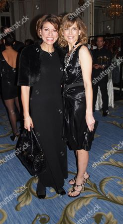 Stock Image of Cnn Launch Party For Their New Us Show Piers Morgan Tonight at the Mandarin Oriental Hotel Knightsbridge London Kate Silverton & Katie Derham