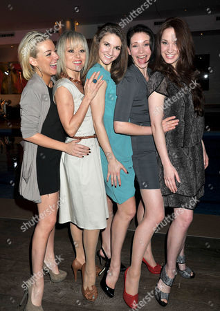 Olivier Theatre Awards Nominees Lunch at the Haymarket Hotel Suffolk Place Sheridan Smith Tracie Bennett Summer Strallen Emma Williams and Sierra Boggess