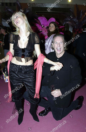 Stock Image of Laurent Perrier Tickled Pink Party at Claridges Hotel Anouska De Giorgio and Thomas Kramer