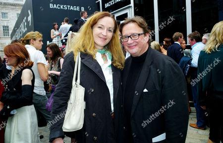 Lfw Jasper Conran Catwalk Show at Somerset House Sebastian Conran with His Wife Gertrude Thome