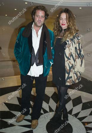 Marefat Dinner at the Connaught Hotel Alice Temperley with Her Husband Lars Von Bennigsen