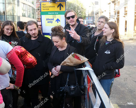 Rosie Mayall with Her Brothers and Sister Attend As A Memorial Bench For the Late Rik Mayall is Unveiled On November 14 2014 in Hammersmith London England