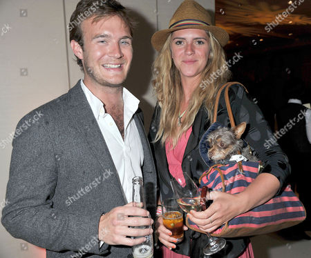 Mint Polo in the Park at Hurlingham Park and Afterparty at the Hurlingham Club Fulham Tom Rutherford and Annabel Simpson with Her Pet Dog Coco