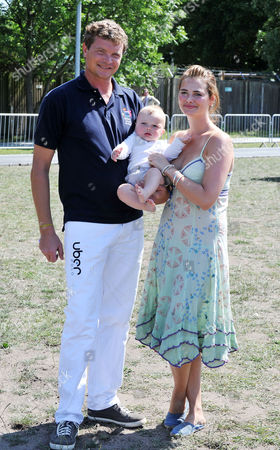 Mint Polo in the Park at Hurlingham Park Fulham Jack Kidd with His Girlfriend Callie and Their Son Jesse