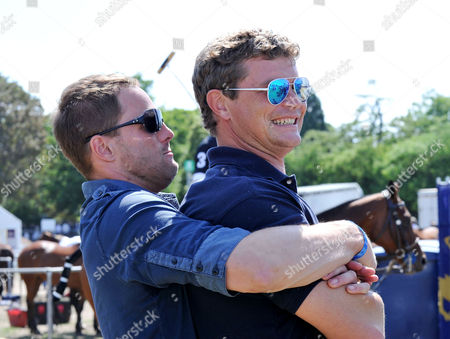 Mint Polo in the Park at Hurlingham Park Fulham Jack Kidd with His Team Mate Jamie Morrison Before the Game