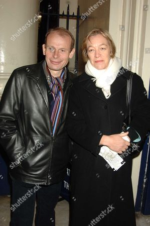 Memorial Service For Mo Mowlam at the Theatre Royal Drury Lane London Andrew Marr & Wife
