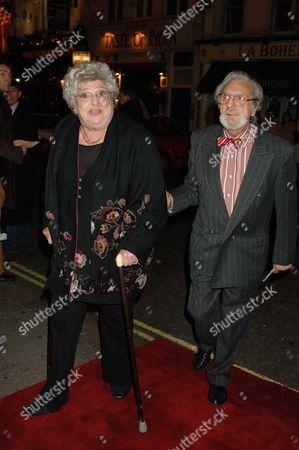 Memorial Service For Mo Mowlam at the Theatre Royal Drury Lane London Clair Rayner & Husband