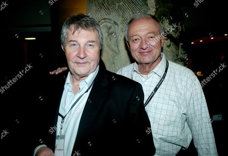 The 2010 Labour Conference at the Manchester Central Convention Complex Greater Manchester Uk Monday Night Parties Around the Conference Area and the Guardian Party at the Radisson Edwardian Hotel Manchester Derek Simpson Joint General Secretary of Unite Union with Ken Livingstone