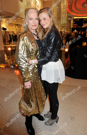 Fashion For Relief Pop-up Shop Opening Party at Westfield Shopping Centre Shirley Eaton with Her Granddaughter Jessica Rowe