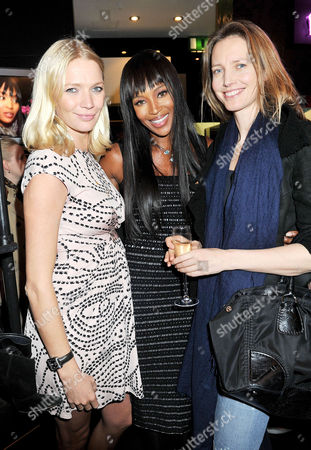 Fashion For Relief Pop-up Shop Opening Party at Westfield Shopping Centre Jodie Kidd Naomi Campbell and Cecilia Chancellor