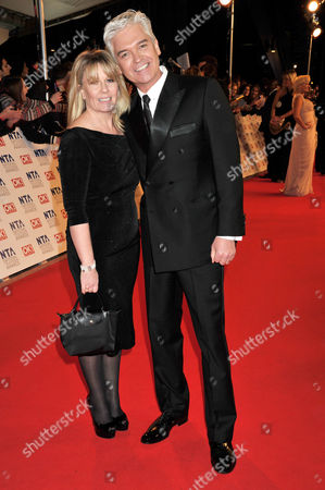 National Television Awards Arrivals at the 02 Greenwich Phillip Schofield with His Wife Stephanie
