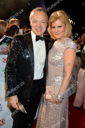 National Television Awards Arrivals at the O2 Graham Norton and Maria Mcerlane