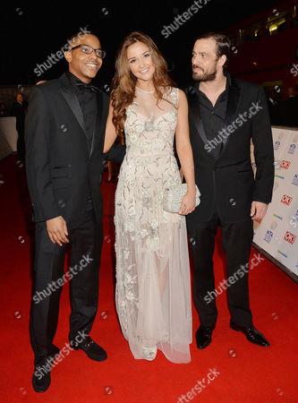 National Television Awards Arrivals at the O2 Khali Best Jacqueline Jossa and Jamie Lomas