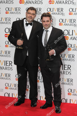 Olivier Awards Press Room 2014 at the Royal Opera House Paul Pyant and John Driscoll