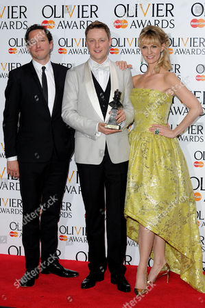 Olivier Awards Press Room 2014 at the Royal Opera House Stephen Ashfield Winner of Best Performance in A Supporting Role in A Musical 'Book of Mormon' Presented by Bertie Carvel and Leigh Zimmerman