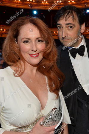 Olivier Awards Reception and Auditorium 2014 at the Royal Opera House Charlotte Page and Alistair Mcgowan