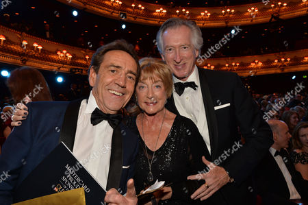 Olivier Awards Reception and Auditorium 2014 at the Royal Opera House Robert Lindsay with Gillian Lynne and Her Husband Peter Land
