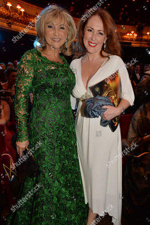 Olivier Awards Reception and Auditorium 2014 at the Royal Opera House Lesley Garrett and Charlotte Page