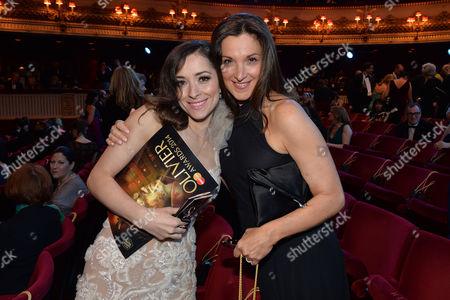 Olivier Awards Reception and Auditorium 2014 at the Royal Opera House Zrinka Cvitesic and Barbara Broccoli