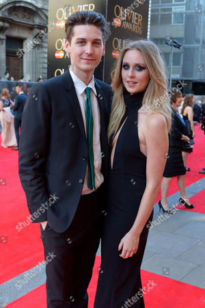 Olivier Awards Reception and Auditorium 2014 at the Royal Opera House Diana Vickers with Her Boyfriend George Craig