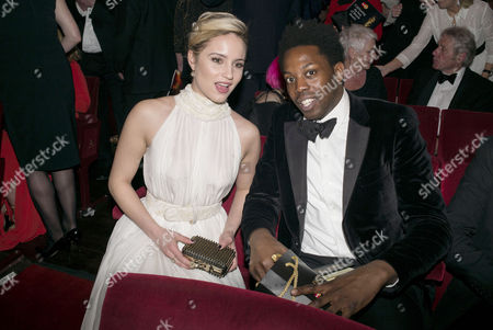 Laurence Olivier Theatre Awards 2015 at the Royal Opera House Exclusive Coverage Inside Auditorium Dianna Agron and Adrien Sauvage