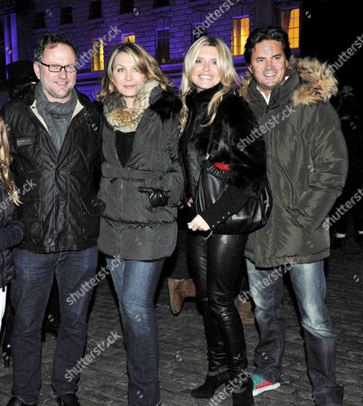 Opening of the Tiffany & Co Presents Skate at Somerset House Open Air Ice Skating Rink On the Strand Nick Jones with His Wife Kirsty Young and Tina Hobley with Her Husband Oliver Wheeler