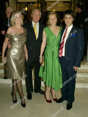 Opening Party For 'The Wonder Room' at Selfridges Oxford Street Hilary and Galen Weston with Their Daughter Alannah Weston and Her Husband Alexander Cochrane