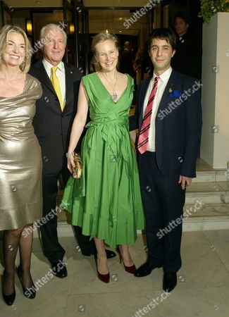 Stock Picture of Opening Party For 'The Wonder Room' at Selfridges Oxford Street Hilary and Galen Weston with Their Daughter Alannah Weston and Her Husband Alexander Cochrane