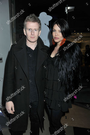 Stock Picture of Oxygen Boutique - Pop-up Store Launch Duke of York Square Chelsea London Patrick Kielty & Alizee Gaillard