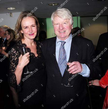 Paddy Power Political Book Awards at the Bfi Imax Cinema Waterloo London Caroline Michel & Stanley Johnson