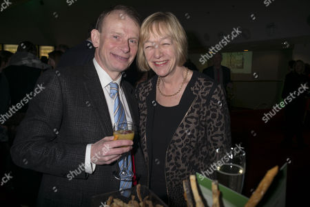 Stock Picture of Paddy Power Political Book Awards at the Bfi Imax Cinema Waterloo London Andrew Marr and His Wife Jackie Ashley