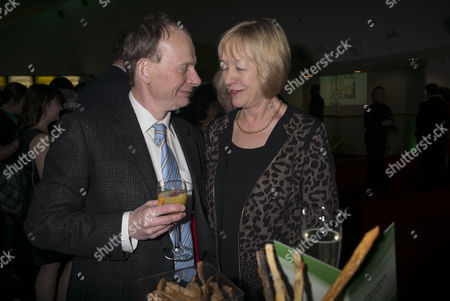 Paddy Power Political Book Awards at the Bfi Imax Cinema Waterloo London Andrew Marr and His Wife Jackie Ashley