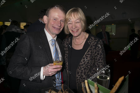 Stock Photo of Paddy Power Political Book Awards at the Bfi Imax Cinema Waterloo London Andrew Marr and His Wife Jackie Ashley