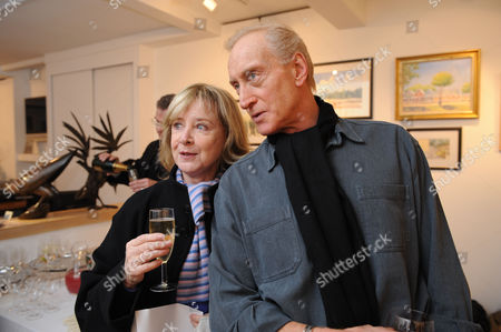 Painting & Watercolours Private View at Sladmore Contemporary Gallery Burton Place Berkeley Square London Angela Douglas & Charles Dance