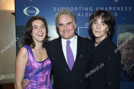 Sir Richard Eyre with His Wife Sue Birtwistle and Daughter Lucy