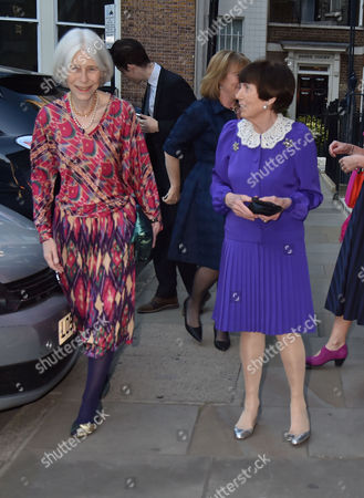Party Before the Wedding of James Rothschild to Nicky Hilton at Spencer House St James Anita Rothschild (groom's Mother) and Lady Serena Rothschild (groom's Grandmother)