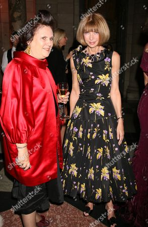 Stock Picture of Preview For Golden Age of Couture Gala at the V&a Susie Menkes and Anna Wintour