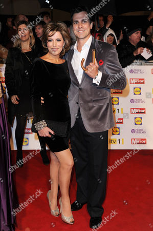 Pride of Britain Awards Arrivals at the Grosvenor House Hotel Natasha Kaplinsky with Her Husband Justin Bower