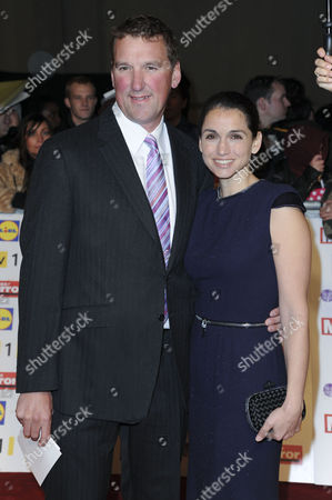 Pride of Britain Awards Arrivals at the Grosvenor House Hotel Matthew Pinset with His Wife Demetra Koutsoukos