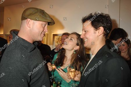 Private View For 'Jonathan Yeo's Sketchbook' at Eleven 11 Eccleston Street Ross Kemp Shebah Ronay and Jonathan Yeo