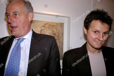 Private View For 'Jonathan Yeo's Sketchbook' at Eleven 11 Eccleston Street Tim Yeo Mp with His Son Jonathan Yeo