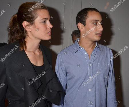 Private View For Hostage A Show of New Work From British Sculptor Alex Hoda at Alexander Dellal's 20 Projects Frieze Show at Margaret Street London Charlotte Casiraghi & Alexander Dellal