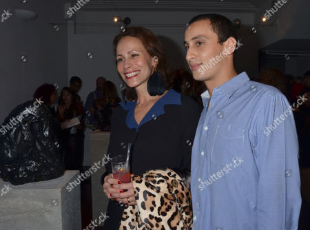 Private View For Hostage A Show of New Work From British Sculptor Alex Hoda at Alexander Dellal's 20 Projects Frieze Show at Margaret Street London Andrea Dellal with Her Son Alexander Dellal